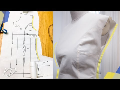 HOW TO: ADD PRINCESS SEAM & SIDE DARTS TO FRONT OF BASIC BODICE | KIM DAVE
