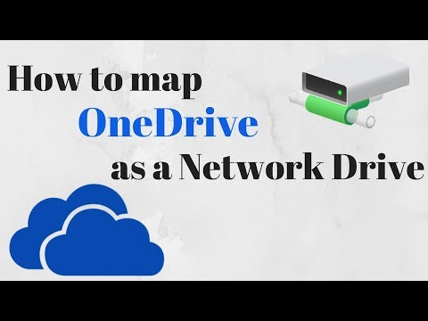 How to map Onedrive as a Network Drive