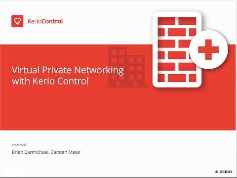 Kerio Control - Virtual Private Networking VPN
