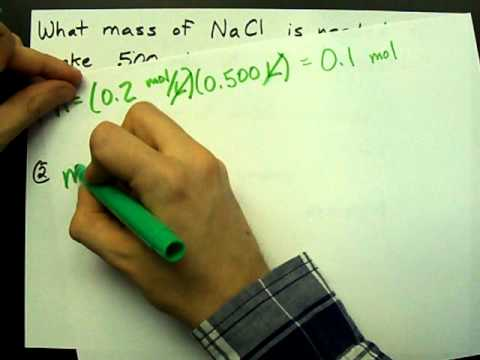 What mass of salt in needed to make a solution? (given concentration)