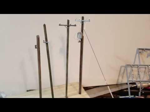 HOW TO MAKE THE BEST HO SCALE UTILITY POLES