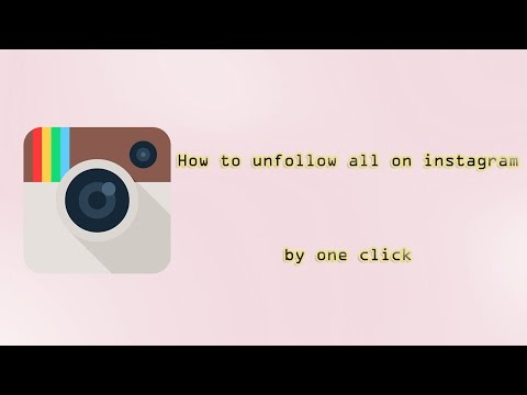 How to unfollow all Instagram following at once | 2018
