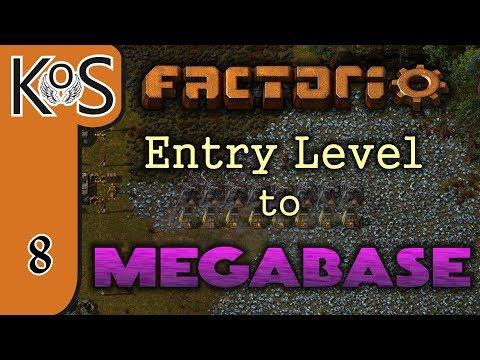 Factorio: Entry Level to Megabase Ep 8: NANOBOTS FEATURE / INSERTER ARRAY - Tutorial Series Gameplay