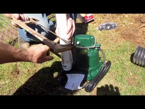 Do It Yourself  - Back Yard Sump Pump Install for Homeowners, Apple Drains