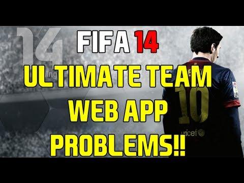 FIFA 14 UT WEB APP LOG-IN PROBLEMS!!