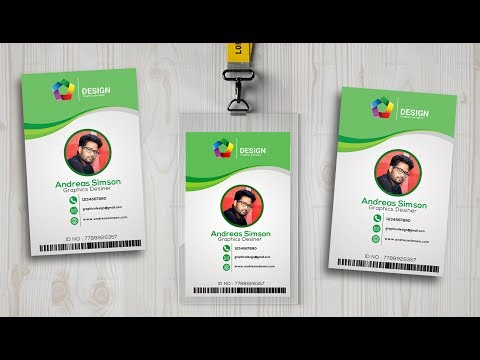 id card design in photo shop I Photoshop tutorials