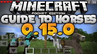Horses In 0150 Guide For Taming Breeding More Update Review Minecraft