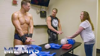 The Miz and Dolph Ziggler become CPR certified at a WWE Live Event: Miz & Mrs. Bonus, Aug. 7, 2018