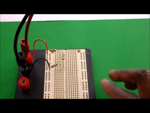 How to Measure DC Voltage and Current in a Series Resistor Circuit.
