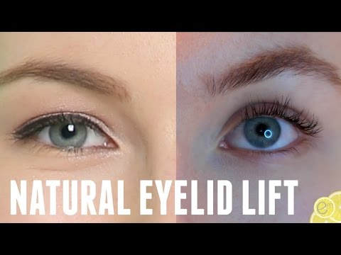 HOW TO EASILY CORRECT HOODED/DROOPY EYELIDS | NATURAL VEGAN EYELID LIFT