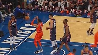 Russell Westbrook Taunts Frank Ntilikina After Fooling Him With Pump Fake! Thunder vs Knicks