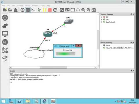SNMP Trap Configuration on Cisco Router using GNS3