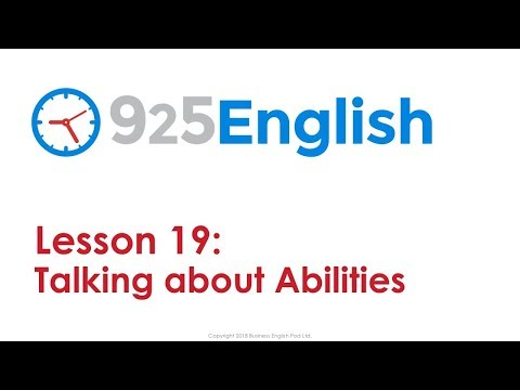 925 English Lesson 19 - How to Talk about Ability in English | Business English