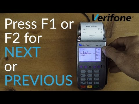Verifone VX520 Credit Card Terminal Tutorial - Change Receipt Descriptors