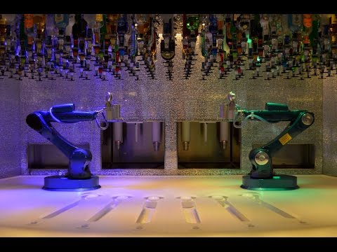 DJI Osmo with Z-Axis on Royal Caribbean Anthem of the Seas (Winter 2017) Bionic Bar in 4k