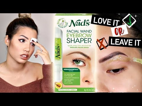 WAXING MY BROWS AT HOME USING NADS | LOVE IT OR LEAVE IT