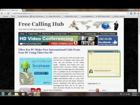 Viber For PC-Make Free International Calls From Your PC Using Viber For PC | Free Calling Hub