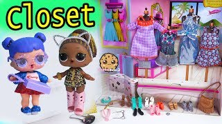 Download Inside Barbie's Closet ! LOL Surprise Dress Up + Open Barbie Blind Bags Video
