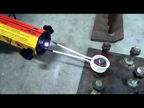 Amazing Induction heat tool rounded nut rust rusty bolt oxy acetylene