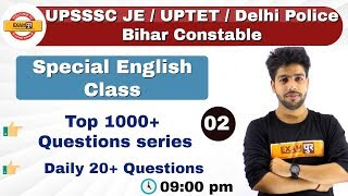Class-02||UPSSSC JE / UPTET / Delhi Police Bihar Constable || Spacial English Class || by Anuj Sir