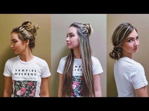 3 QUICK AND EASY MESSY BUNS | beautybyasha