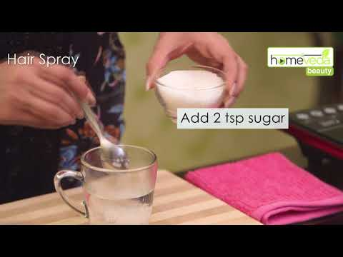 Make Natural Hair Spray Within 30 Seconds! | Easy Home Remedies - Homeveda