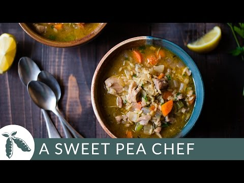 Lemon Chicken Orzo Soup | A Sweet Pea Chef