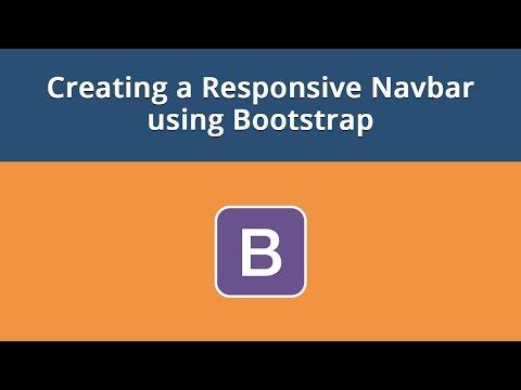 Creating a Responsive Navbar using Bootstrap