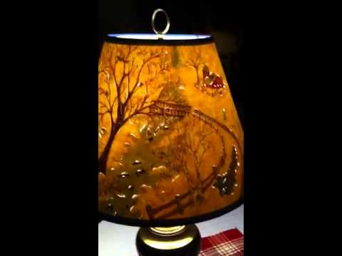 Hand painted cut and pierced lampshade