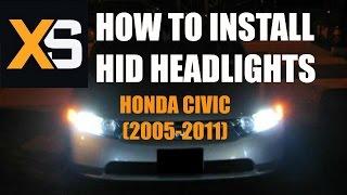 Diy Hid Xenon Install 2006 Honda Civic