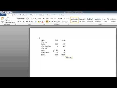 How to Convert an Excel 2010 spreadsheet to a word document