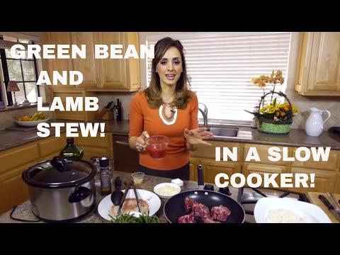 FASOOLYA/LOOBYA (Lamb & green beans) ARAB STYLE!