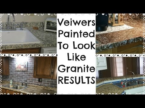 Pictures From Viewers of their DIY COUNTERTOP RESULTS / How To make countertops look like granite