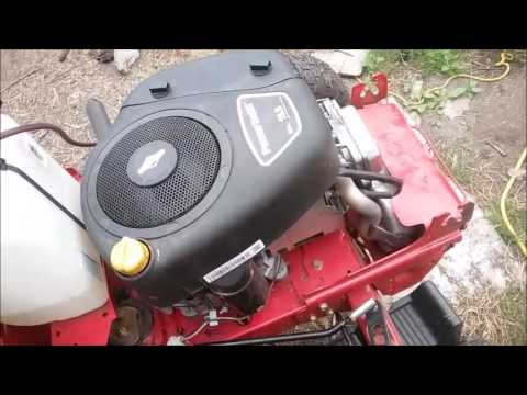 Troybilt riding mower engine removal
