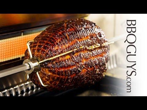 How to Make a Glazed Ham on a Rotisserie - Recipe - Caliber Crossflame Pro Gas Grill - BBQGuys.com