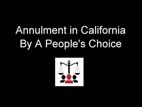 California Annulment - Understanding the Legal Basis