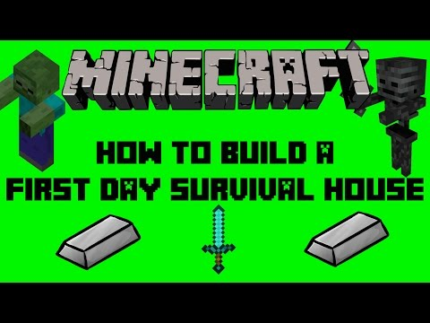 Minecraft   How To Build A First Day House