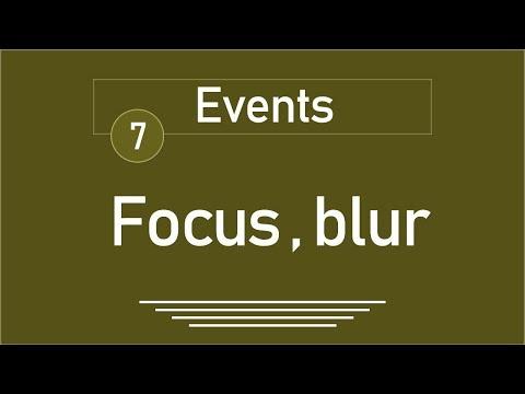7 - ( jQuery Tutorial ) Events: focus, focusin, focusout, blur