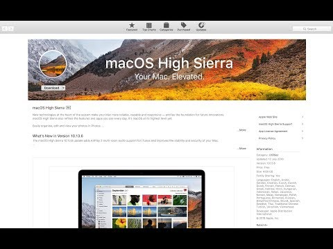 How to Download macOS High Sierra from App Store Find File Path from MacOS Mojave - 2019