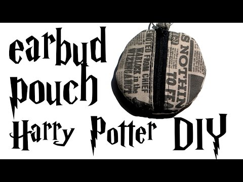 DIY earbud pouch - Harry Potter tutorial