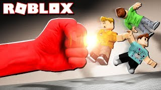 Roblox Adventures - SURVIVE THE MOST POWERFUL PUNCH IN ROBLOX! (Heroes of Robloxia)