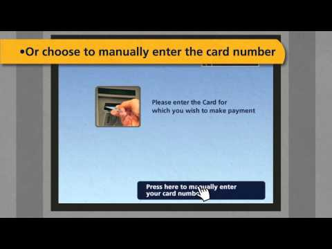 Credit card payment via ATM Machine