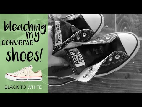 How To Bleach Converse Shoes!  |  Our Wild Life