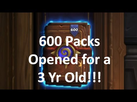 600x Hearthstone Packs Opened For 3 Year Old - See God Pack & Golden Legend Ratio