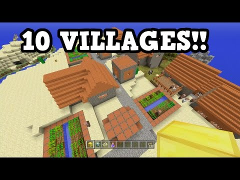 10 VILLAGES SEED!!! - Minecraft Xbox 360 / PS3
