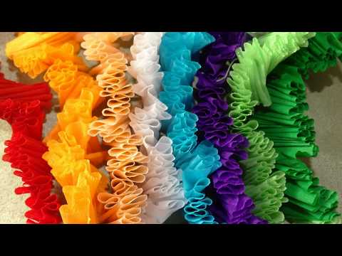 Crepe paper craft.Crepe Paper Garland.Party decoration ideas using crepe paper.