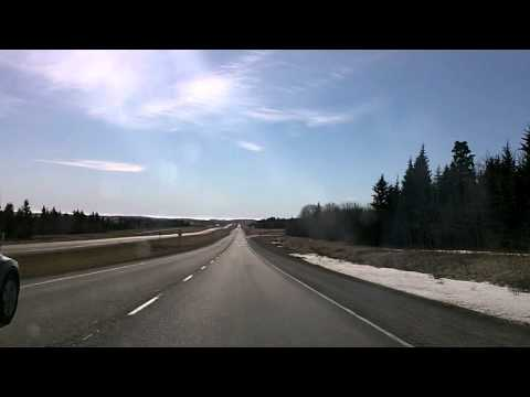 From the Mountains to the City: Canmore to Calgary Time-Lapse Dashcam