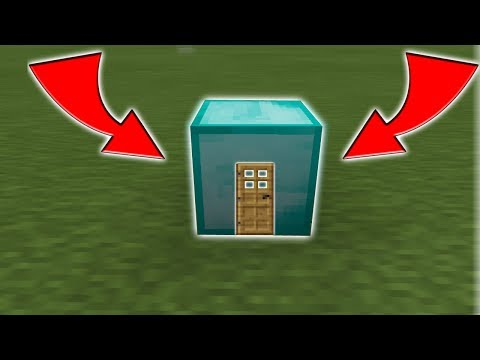 How To Live Inside A Diamond Block In Minecraft PE 1.1 - 1.2 (No Mods Or Addons)