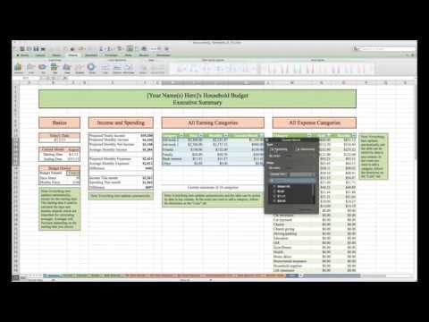 Household Budget and Finances Template and Tutorial (Excel)