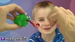 CUT Squishy Toys! Weird CANDY + FNAF Surprises, Spiderman Has No Feet? HobbyKidsTV